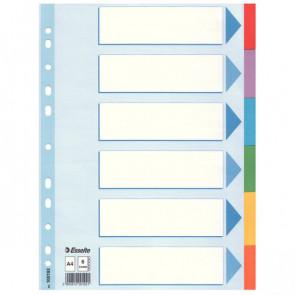 Intercalari in cartoncino Esselte A4 6 100192
