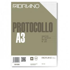 Fogli protocollo Fabriano standard 5 mm 66 g/mq 02810566 (conf.200)