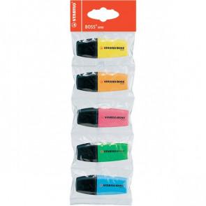 Evidenziatore Boss Mini Stabilo giallo, azzurro, verde, arancio, rosa 2-5 mm 07/5-11 (conf.5)
