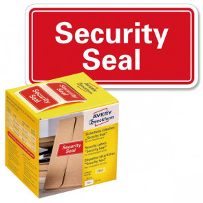 "Sigilli di sicurezza Avery ""Security Seal ""- 38x20 mm 200 et/rotolo rosso 7311"