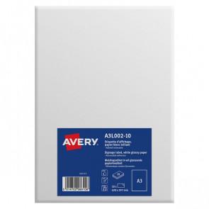 Etichette A3 carta bianca Avery da -5