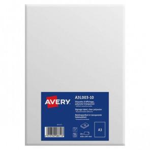 Etichette A3 in poliestere Avery da -7