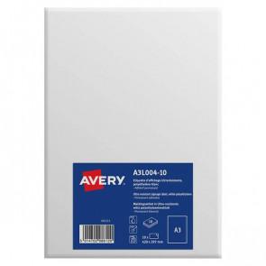 Etichette A3 in teslin Avery da -40