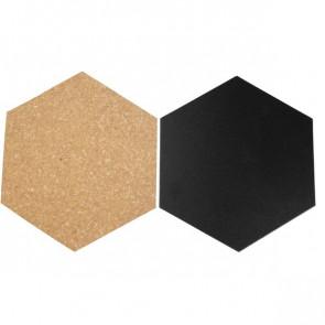 Lavagne esagonali da parete Securit nero e beige FB-CB-HEX (conf.7)