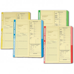 Cartelline dichiarazione redditi 4company 32,5x25,5 cm avorio rosso 4175 04 (conf.50)