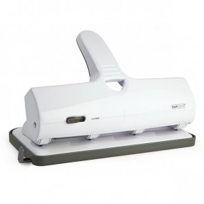 Perforatore ALU 40 a 4 fori fissi Rapesco 40 fogli bianco 1324