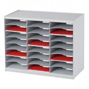 Sistema di smistamento corrispondenza Paperflow 24 scomparti grigio 67,4x30,8x54,8 cm 802.02