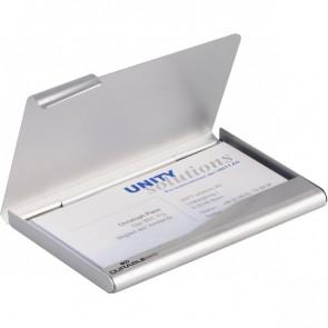 Portabiglietti da visita tascabile Box Durable acciaio 9x5,5 cm 2415-23