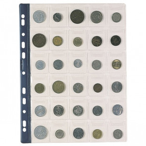 Busta portamonete Favorit 30 tasche 30 numismatica 22,5x30 cm trasparente 02668001 (conf.10)