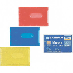 Portacards rigidi Favorit semi-trasparente assortiti 8,5x5,4 cm 02782815 (conf.100)