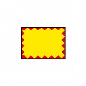 Etichette permanente giallo/rosso 26x19 mm -per Prezzatrice 184994 Printex B10/2619/FPGSTF (Conf.10)