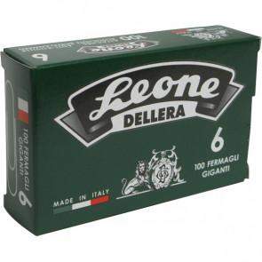 Fermagli zincati Leone Dell'Era Punte rotonde N 6 58 mm FZ6 (cfz.100)