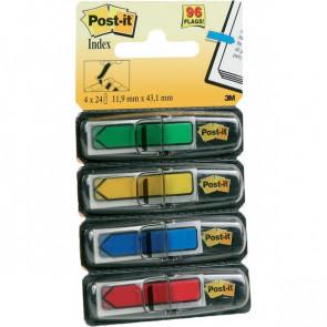 Post-it® Index Mini 684 blu, giallo, rosso, verde 684-ARR3 (conf.4)