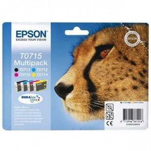 Originale Epson C13T07154010 Conf. 4 cartucce RS T0715 nero+ciano+magenta+giallo