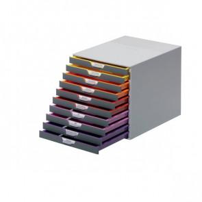 Cassettiere da scrivania Varicolor® Durable grigio e multicolore 10 cassetti 2,5 cm 7610-27
