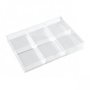 Divisori per cassettiera in acrilico a 3 cassetti Tecnostyl - trasparente 6 K6ACRD040