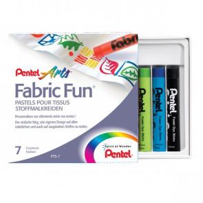 Pastelli per tessuti Pentel assortiti PTS-07U2 (conf.7)