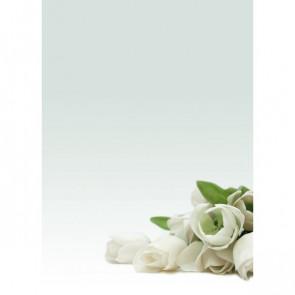 Carta menù inviti Decadry fiori bianchi A4 90 g T036126 (conf.20)