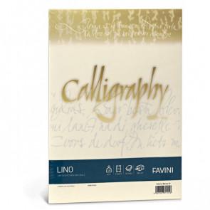 Calligraphy effetto lino Favini lino avorio fogli A4 120 g A69Q514 (conf.50)