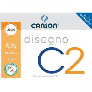 Album da disegno C2 Canson Liscio riquadrato 120 g/mq 20 100500448