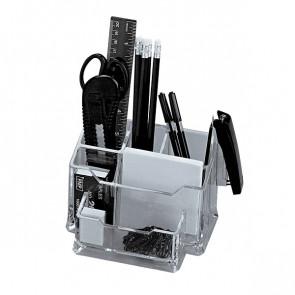 """Set portaoggetti da tavolo """"Plexi"""" con accessori Niji trasparente 5474"""