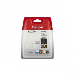 Originale Canon 6509B008 Conf. 4 serbatoi inchiostro blister CLI-551 nero+ciano+magenta+giallo