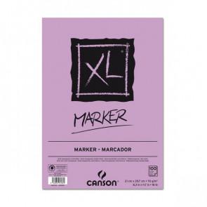 Blocco ini carta collata XL Marker Canson collato lato corto A4 100 200297236