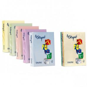 Carta colorata Le Cirque Favini Colori tenui 160 g/mq assortiti 5 colori A74X304 (risma250)