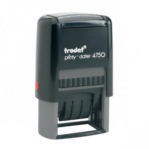 Datario autoinchiostrante con testo commerciale Printy 4750 Trodat registrato TR4720