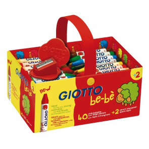 Schoolpack Superpastelli a cera Giotto Be-bè 5 mm da 2 anni in poi 4627 00 (conf.40)