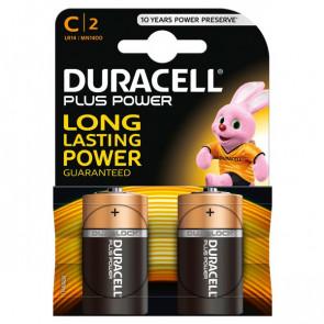 Pile Duracell Plus mezzatorcia C 1,5 V MN1400B2 (conf.2)