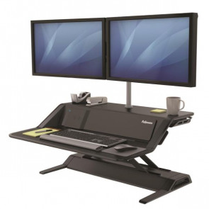 FELLOWES SIT STAND LOTUS DX WORKSTATION NERO
