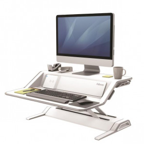 FELLOWES SIT STAND LOTUS DX WORKSTATIONBIANC