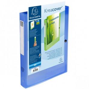 Cartelle Portaprogetto Personalizzabili Kreacover Exacompta Blu Trasparente 59982E