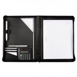 Portablocco in similpelle Juscha 26x2x31,5 cm nero 30056