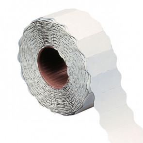 Rotolo 1500 etichette 26x12mm bianche permanenti a onda Markin