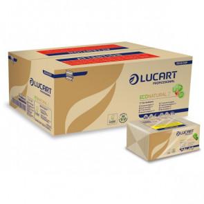 Asciugamani intercalati Lucart Z 23x23,5 cm ecologica naturale 2 veli 864036 (conf.220)