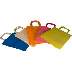 Borse in carta colorata Rex Sadoch ass. pastello 22x10x27 cm tinta unita SDF22-LIT (conf.25)