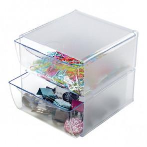 Cubi Organizer Deflecto a 2 cassetti trasparente DE350101