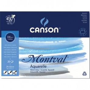 Blocco Linea Acquerello Montval Canson 24x32 cm 300 g/mq 12 fogli 0807319