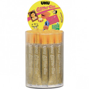 Glitter Glue UHU Original oro 20 ml D1555
