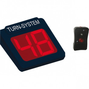 Display 2 cifre e radiocomando per Kit Eliminacode Nero/rosso Printex Tr/dis2/led k
