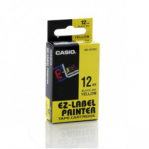 NASTRO CASIO 12MM X 8MT NERO SU GIALLO