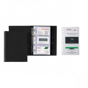 Portabiglietti da visita in PVC ad anelli Favorit - Ricambi - 13x21 cm - 20 - 100460569 (conf.20)