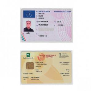 Porta cards Favorit - 8,5x5,4 cm - 2 spazi - 100500082 (conf.50)