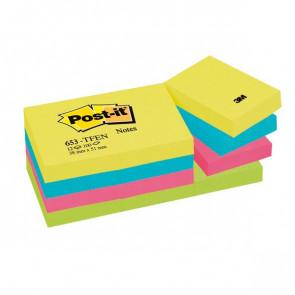 Post-it® Note Energy Post-It tinta unita 100 38x51 mm neon arcobaleno 653-TFEN (conf.12)