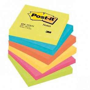 Post-it® Note Energy Post-It tinta unita 100 76x76 mm neon arcobaleno 654-TFEN (conf.6)