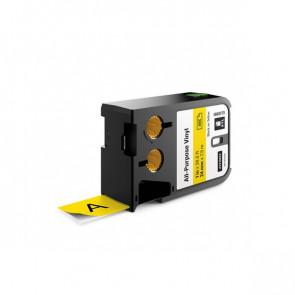 Etichette XTL in vinile Dymo - 24 mm - nero/giallo - 1868773