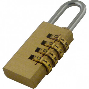 Lucchetto a combinazione Viso - 12,5x28x50 mm - 4 cifre - oro - CL 4 COM SB