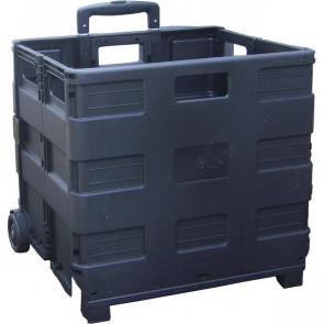 Cassetta pieghevole portatile Viso - nero - TROLLEY GP